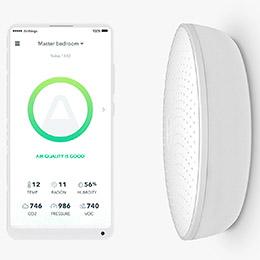 Airthings Wave Plus elektronisk inomhusklimatmonitor